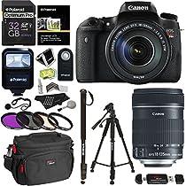 Canon EOS Rebel T6s Digital SLR Camera + 18-135mm IS STM Lens + 32GB 633x Card + Polaroid 57
