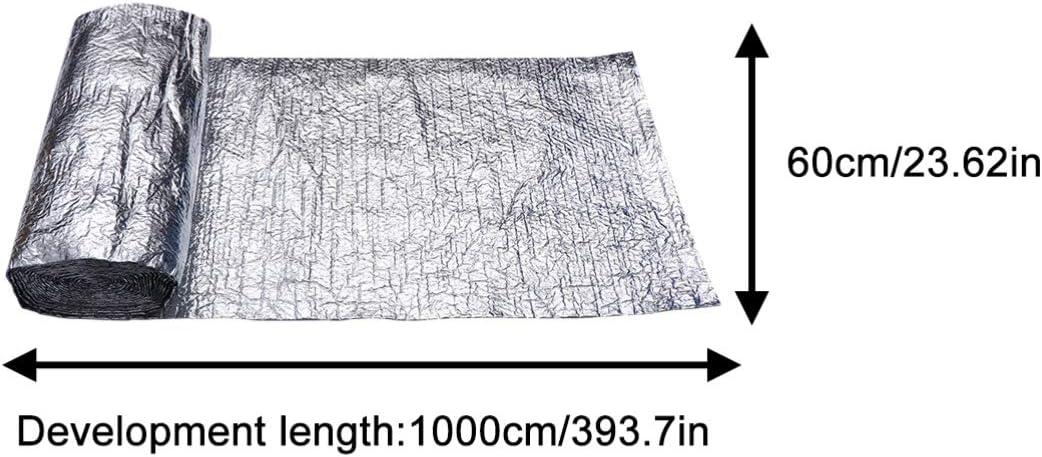 NICEXMAS Papel de Aluminio Reflectante Aislamiento Insonorizaci/ón Aislamiento Automotriz Impermeabilizaci/ón Techos Ventanas