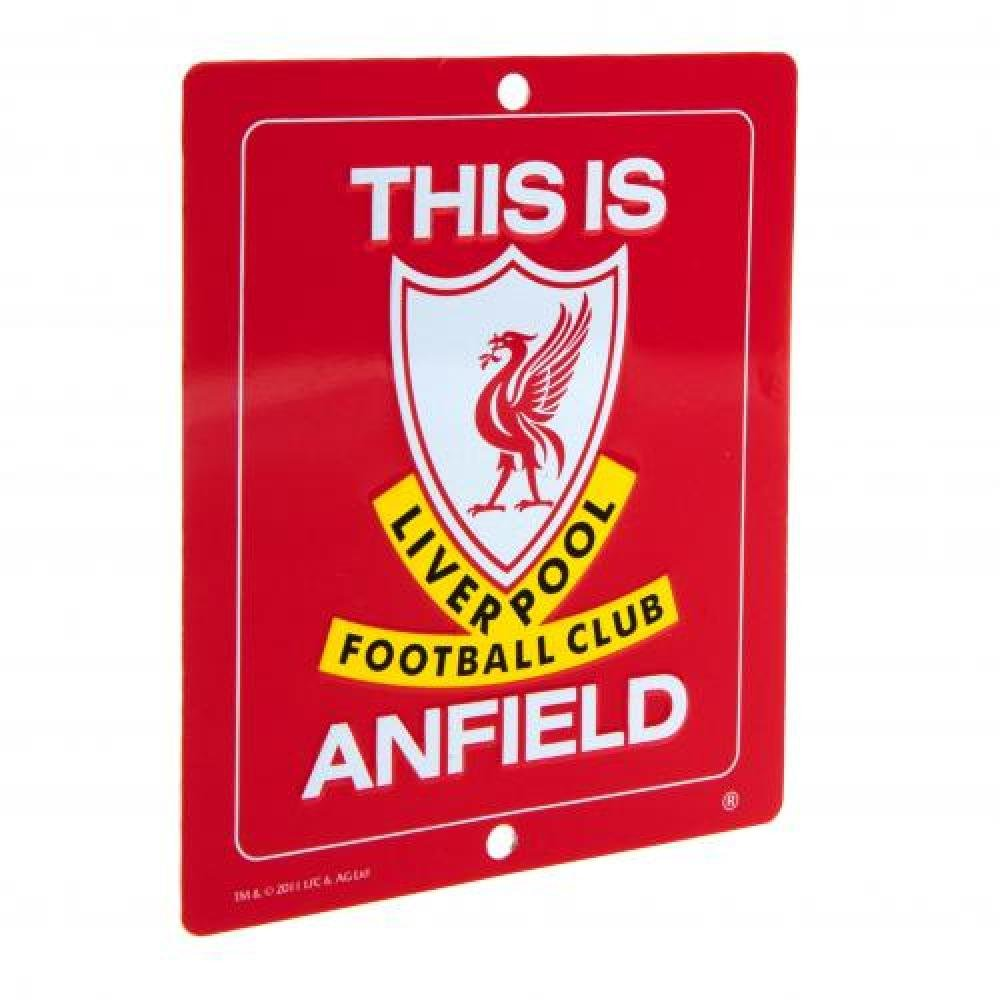 Liverpool FC Official Football Gift Window Sign - A Great Christmas / Birthday Gift Idea For Men And Boys