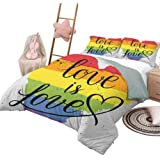 You are Beautiful You are LGBT Quilt Twin Size Blankets King Queen Twin Size Birthday for Dad Mom Husband Wife Kids Son Daughter