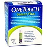 OneTouch Select Plus - Strisce Per La Misurazione Della Glicemia, 50 Pezzi
