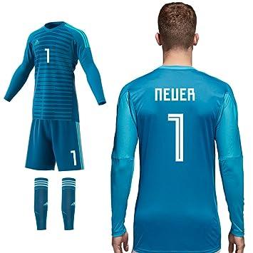 adidas Portero Home Azul Set consiste en Camiseta Pantalón del surtidor Temporada 2018/19, Neuer, 128: Amazon.es: Deportes y aire libre