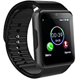 MAMYOK Bluetooth Smart Watch, Intelligente Armbanduhr Fitness Tracker Armband Sport Uhr mit Schlafanalyse/Kameraaufnahme/Schrittzähler/GPS-Routenverfolgung Kompatibel mit Android Smartphone