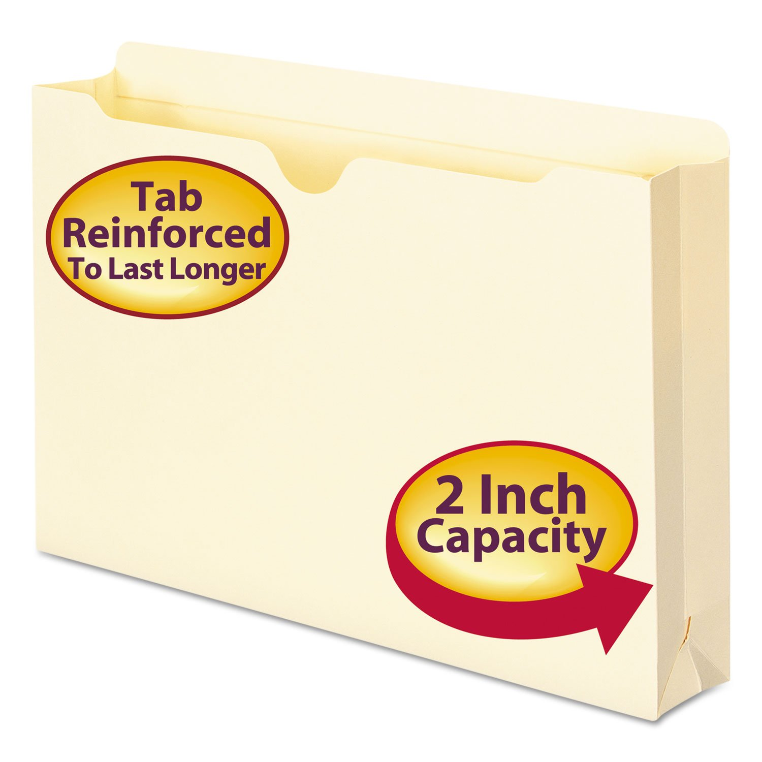 Smead SMD76560 Top Tab File Jackets, 2 Expansion, Straight Cut 2-Ply Tab, Legal Size, Manila, 50 Per Box 2 Expansion Smead Manufacturing Company