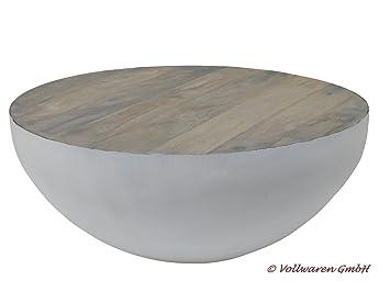 Metall Mango Couchtisch Pila 70x70 Weiss Mango Grau Vintage