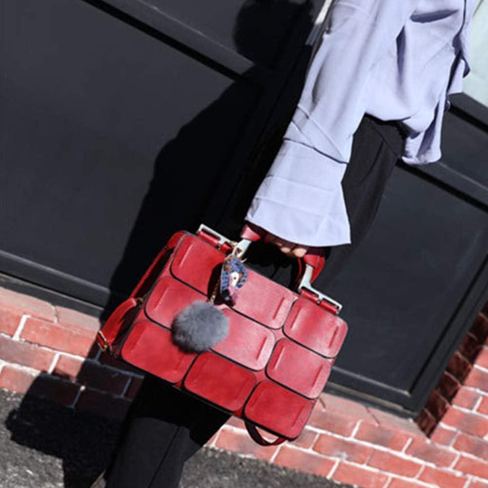 Grey990 Boston Style Women Shoulder Crossbody Bag Nine Patch Messenger Handbag Tote Bag Purple