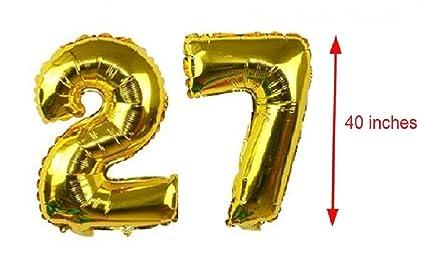Amazon.com: 27 globos números 40 pulgadas lámina de mylar ...
