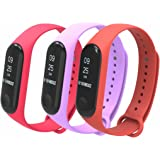 for Xiaomi Mi Band 3 Bands,T-Bluer Colourful Replacement Strap Wirstband for Xiaomi Mi Band 3 Band Smart Bracelet Accessories(No Tracker)