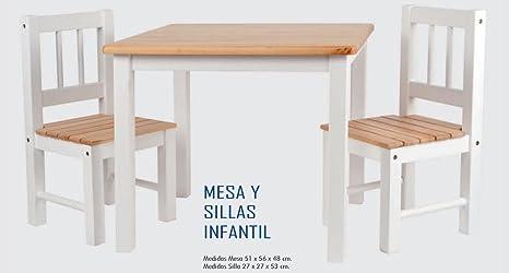 Mesas y sillas infantiles de madera: Amazon.es: Hogar