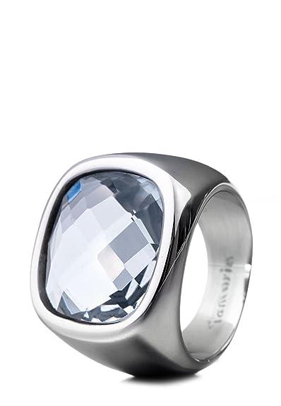 Tamaris Stainless Steel White Crystal Fashion Ring 30EkFc