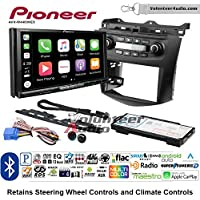 Volunteer Audio Pioneer AVH-W4400NEX Double Din Radio Install Kit with Wireless Apple CarPlay, Android Auto, Bluetooth Fits 2003-2007 Honda Accord (Factory climate controls)