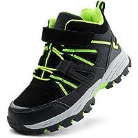 JABASIC Zapatos de senderismo impermeables para niños y niñas, zapatos de aventura al aire libre.