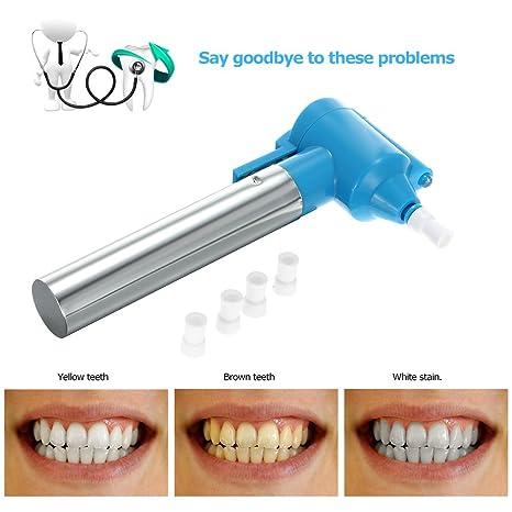 Likar Pulidor Quitamanchas eléctrico para pulido de dientes y blanqueamiento dental con 5