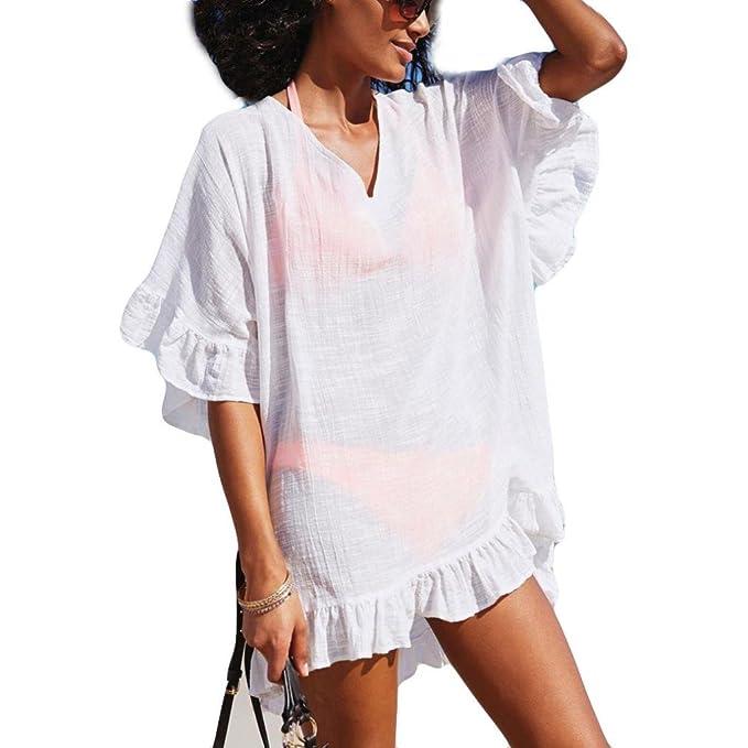 WINWINTOM Blusas y Camisas De Mujer, Verano Casual Camisetas y Tops, Mujer Moda Gasa