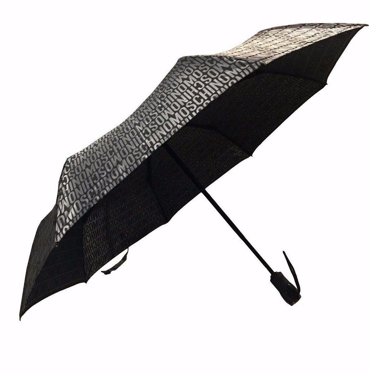 Paraguas Moschino compacto/retráctil Silver Multilogo as17mo10: Amazon.es: Equipaje