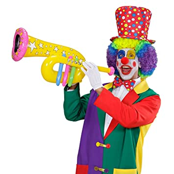 NET TOYS Trompeta Inflable de Payaso Circo trombón Instrumento ...