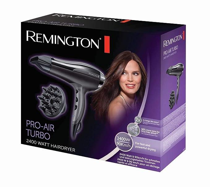 Remington PRO- Air Shine D5215 - Secador de Pelo, Secador Iónico, Difusor y Concentrador, 2300 W, Negro