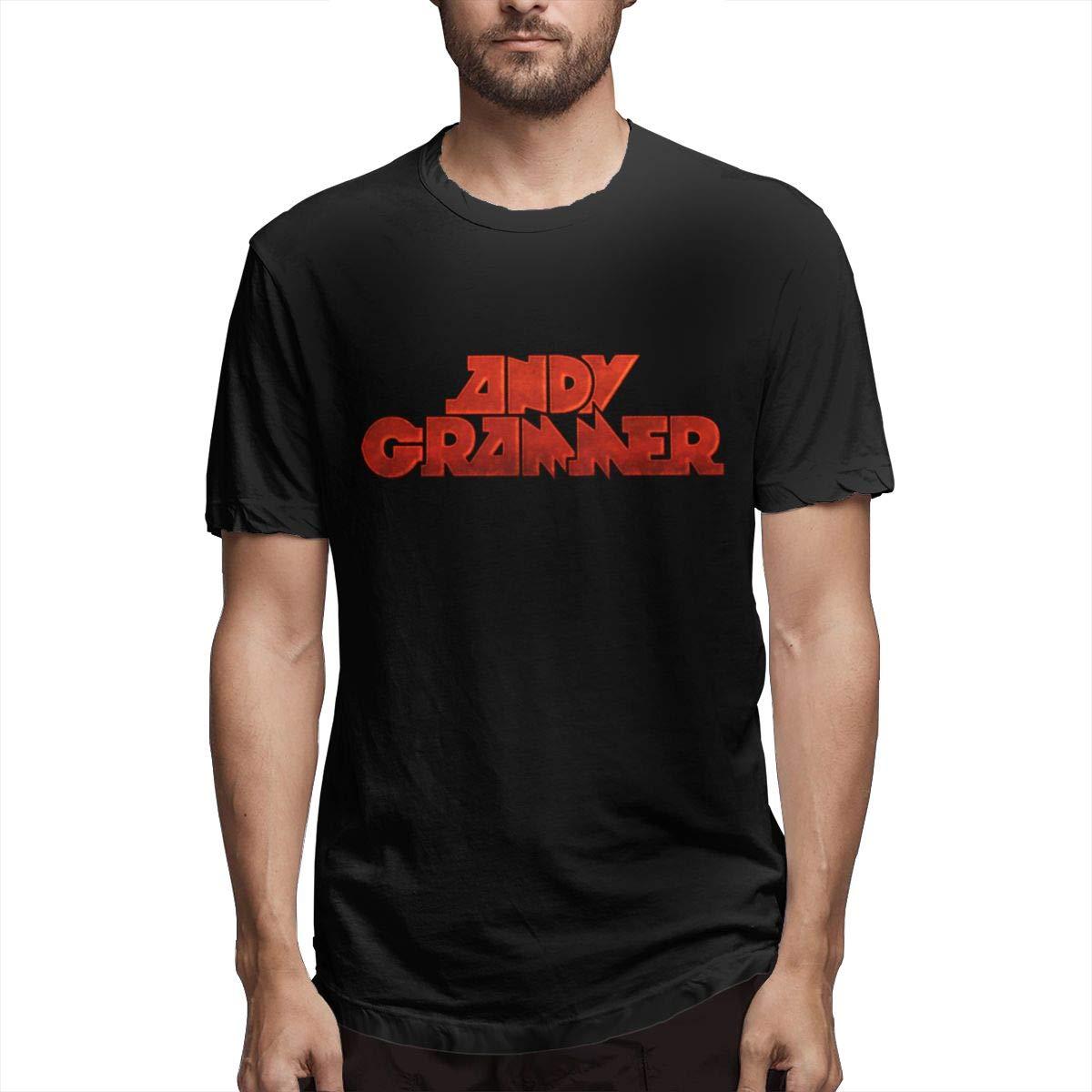 Lihehen Man Andy Grammer Logo Retro Printing Round Neck Tees Shirts
