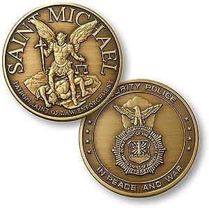Saint Michael - USAF Security Bronze Antique