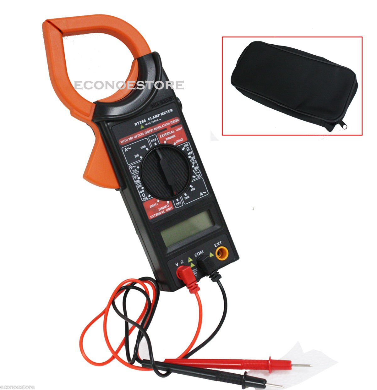 DT266 AC/DC Meter Electronic Tester Digital Multimeter Clamp