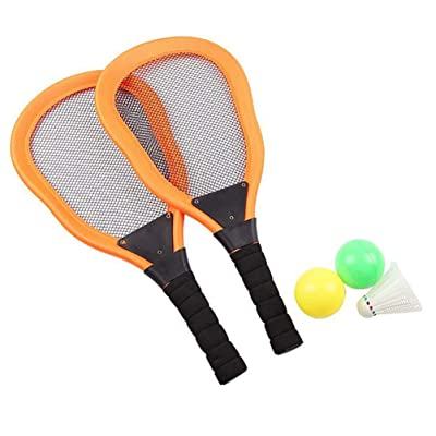 BESPORTBLE 5pcs Tennis Paddle Racket Badminton Ocean Ball Set Beach Sports Games for Kids Boys Girls Outdoor Playing: Toys & Games