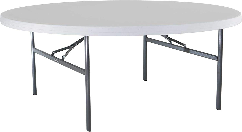 - Amazon.com: Lifetime 22673 Folding Round Table, 6 Feet, White