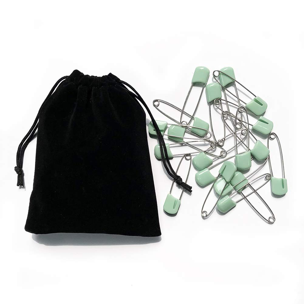 2.2in White /& Black CCUT 120Pcs Baby Safety Pins Plastic Head White Baby Diaper Safety Pins Safety Locking Baby Cloth Diaper Nappy Pins
