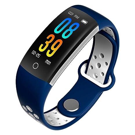 Q 6 Fitness Reloj de Pulsera con pulsómetro Resistente al Agua IP67 Fitness Tracker Actividad Tracker