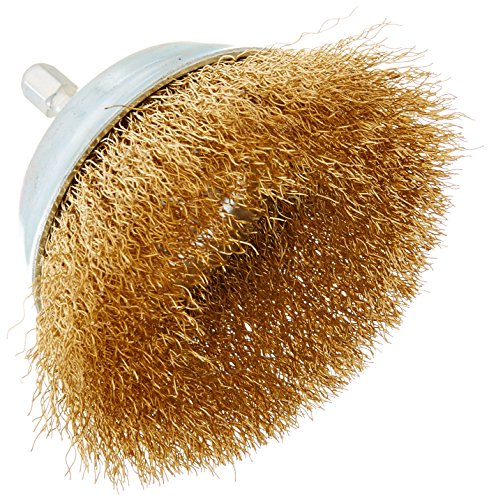 - Vermont American 16784 3-Inch Fine Wire Cup Brush with 1/4-Inch Hex Shank for Drill