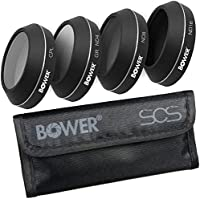 Bower Sky Capture Series 4-Piece 4K Filter Kit with Carry Pouch for DJI Mavic Pro Drone