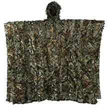 antWalking Outdoor 3D Leaves Camouflage Ghillie Poncho Camo Cape Cloak Stealth Ghillie Suit Military CS Woodland Hunting Clothing Free Size