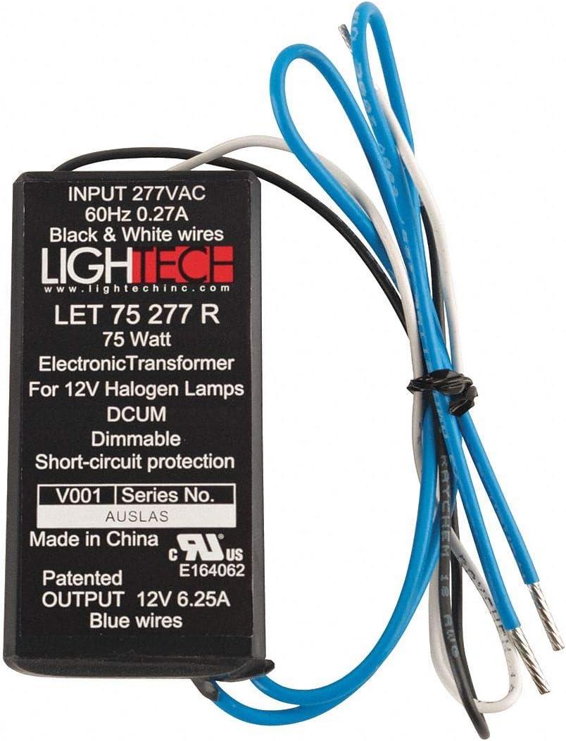 GE Lighting Low Voltage Electronic Halogen Transformer, 75 watt, 277 volt AC Input, 11.5 volt Output