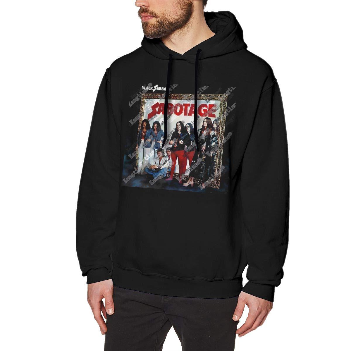Chunt S Black Sabbath Sabotage Hooded Art No Pocket Black Shirts