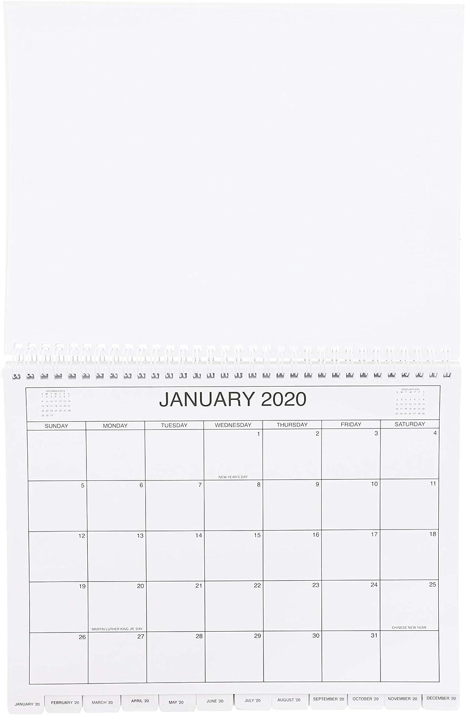 Ku Calendar 2022.3 Year Desktop Calendar 2020 2022 11 2 X 9 In Black