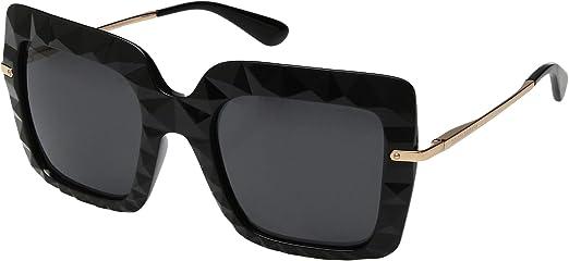 fb447aaee6edd Dolce   Gabbana Dg 6111 - Óculos De Sol 501 87 Preto E Doura  Amazon ...