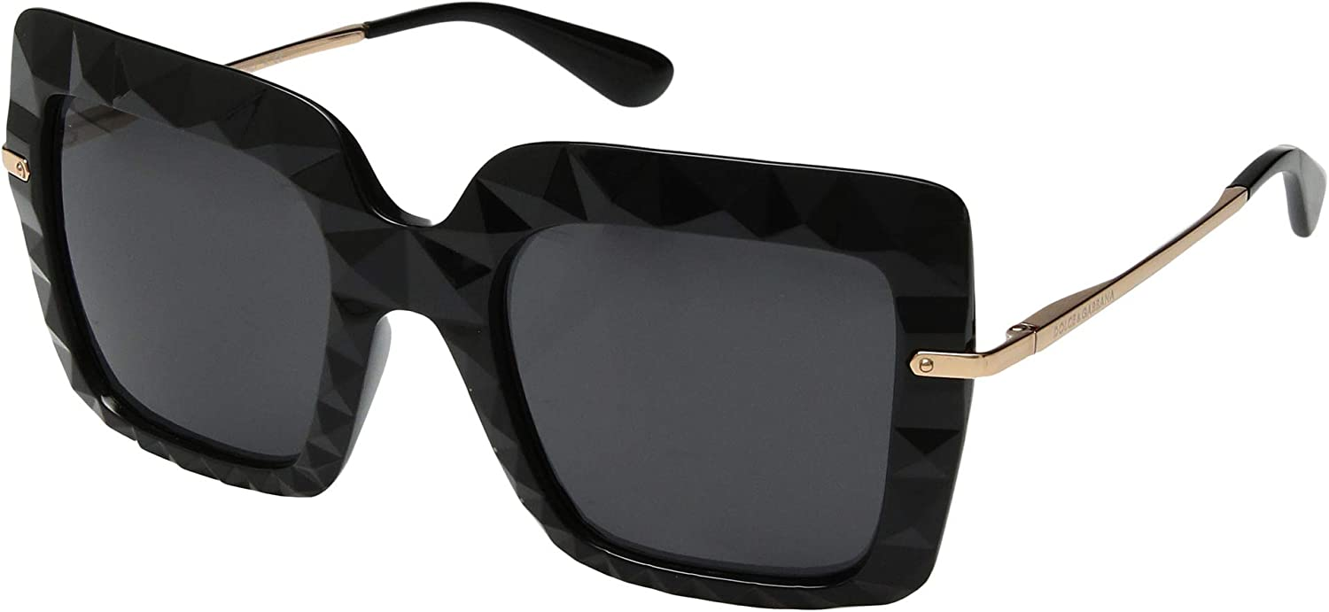 Ray-Ban Women's 0DG6111 Sunglasses, Black, 51