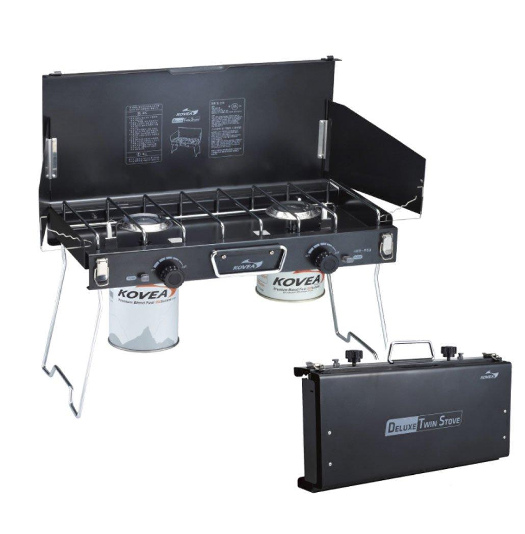 KOVEA Deluxe Twin Stove Black バーナー/ツインバーナー(海外直送品) B079M3HCL6