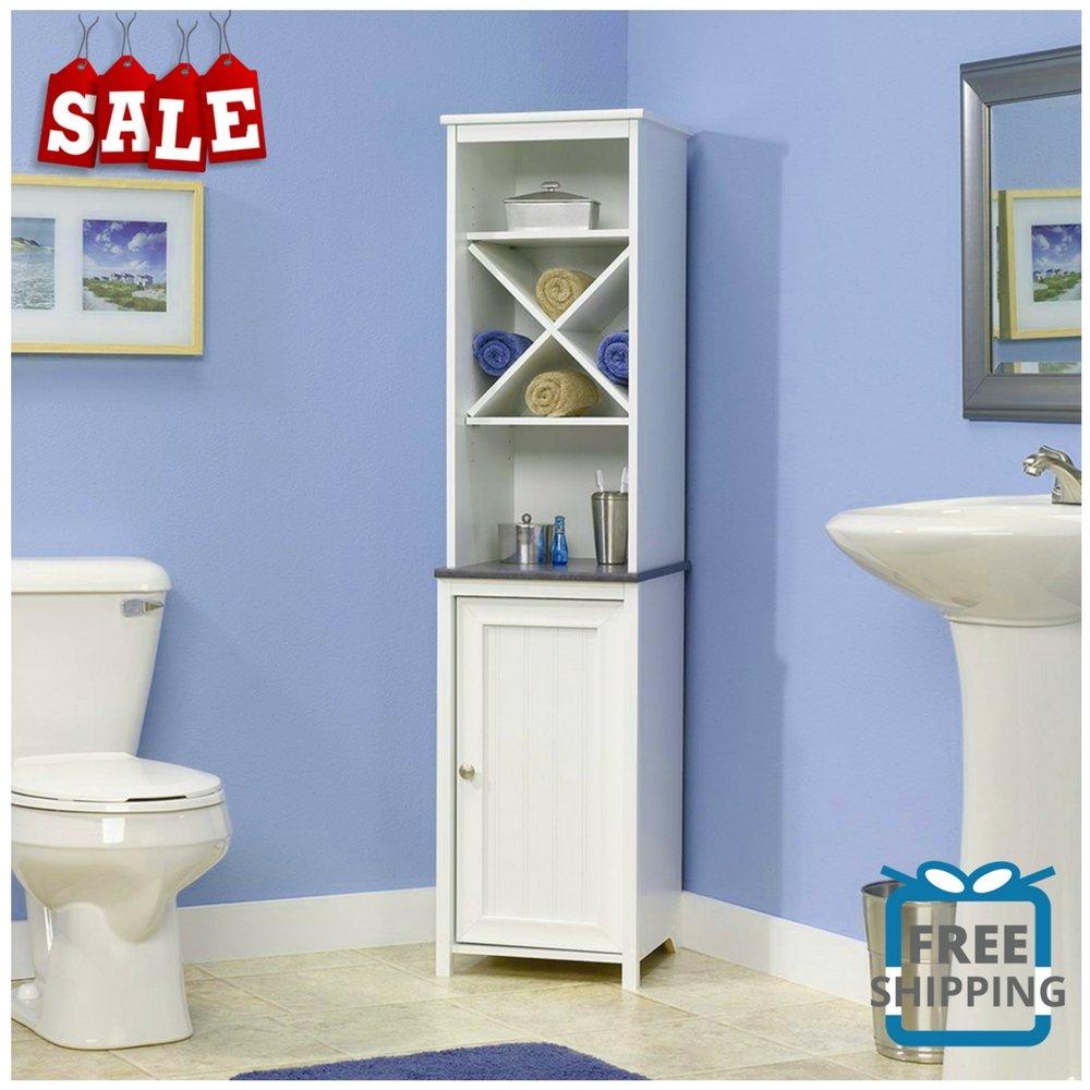 Amazon.com: Vertical Bathroom Cabinet Standing Bathroom Furniture ...