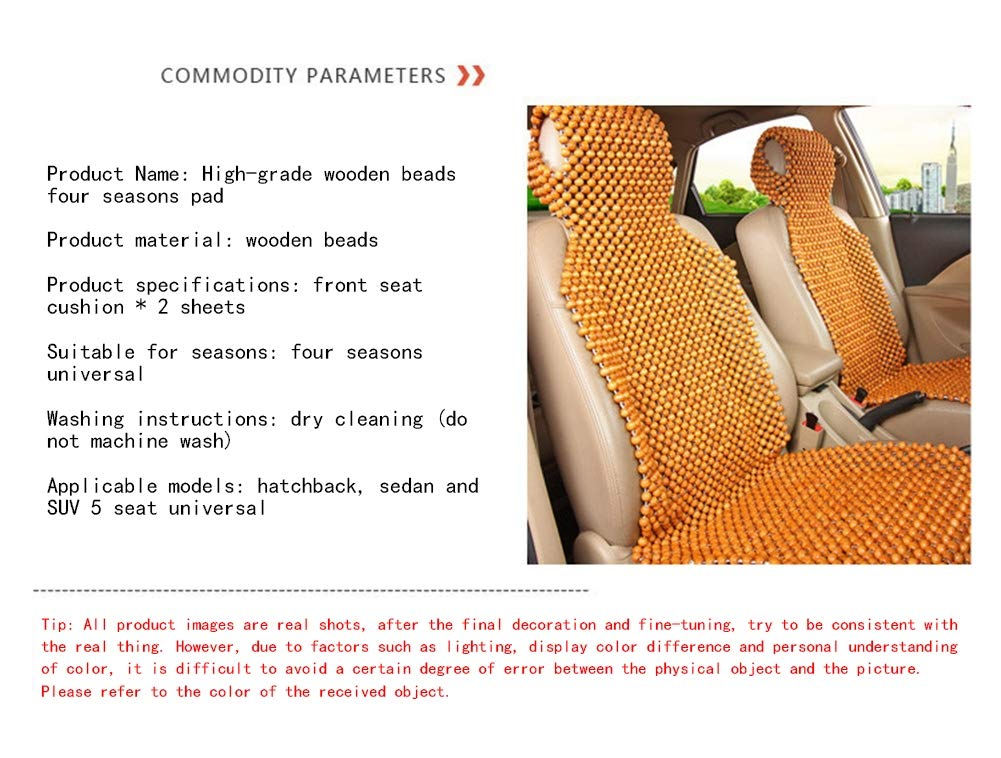 Summer hot car supplies car seat cover seat cover 3 color optional wooden beads square pad car wooden beads cushion,Red