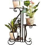 JQWJHJ Balcony Living Room Floor Multi-layer Flower Pot Rack Indoor And Outdoor Plant Stand (Color : Black)