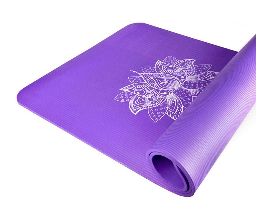 YUREN Yoga Mat 10 mm Extra Grueso Ejercicio Mat Alfombra de ...