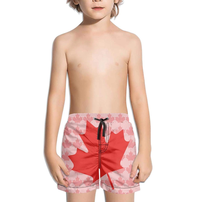 HONGMING Boys Swim Trunk Canada Day Quick Dry Beach Board Shorts
