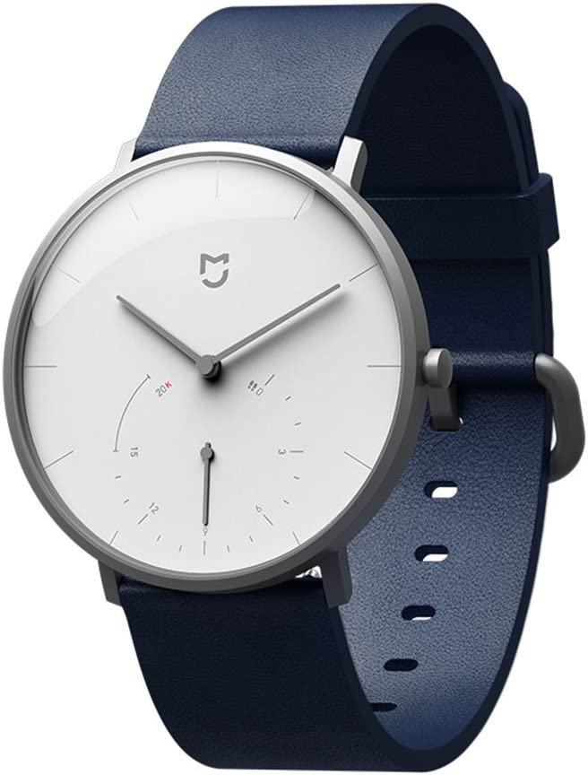Relojes de Cuarzo MIJIA Impermeable Doble dial con Sensor de Alarma de Deporte BLE4.0 Wireless Connect Mi aplicación de Inicio (Azul)