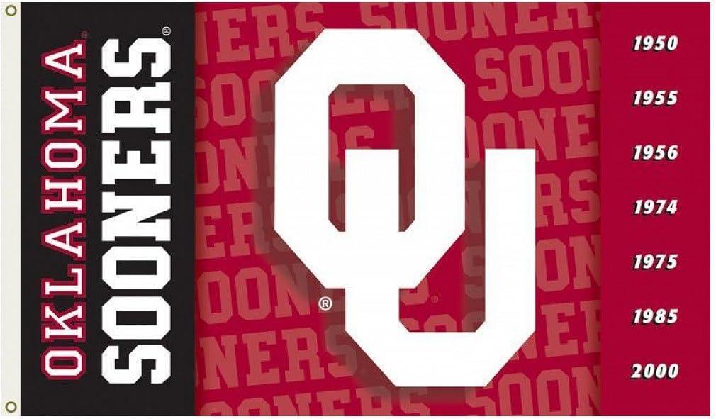 B00AQ6ZJIG Oklahoma Sooners 2-Sided 3 Ft. X 5 Ft. Flag W/Grommets 617kwpL9hrL