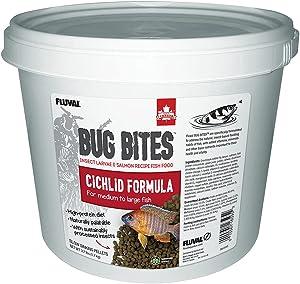 Fluval Bug Bites Cichlid Fish Food, Pellets for Medium to Large Sized Fish, 3.74 lb.