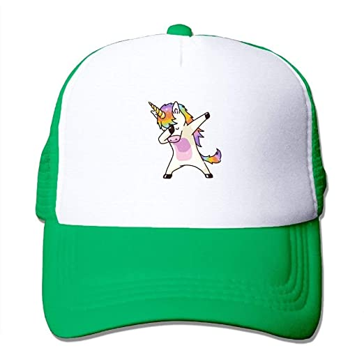 063afcfd23300 Image Unavailable. Image not available for. Color  Mesh Baseball Hat Dad  Trucker Unicorn Dabbing ...