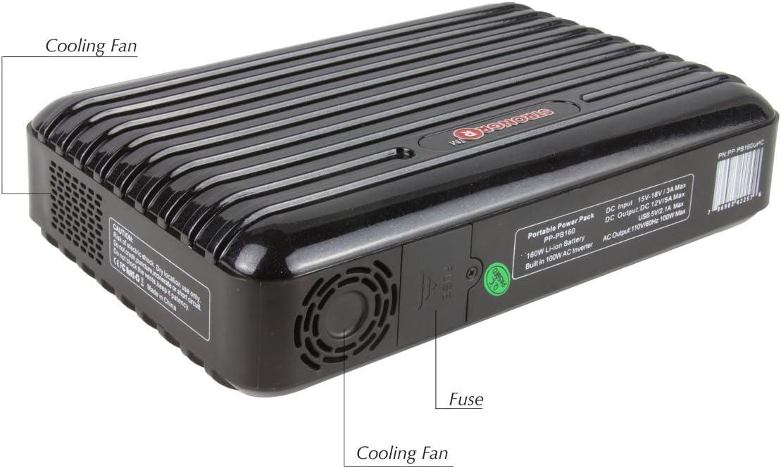 strongrr nuevo paquete de alimentación portátil para Dell Streak 7 Wi-Fi Generador de solar 160 W 15600 mAh Con DC 12 V/5 A, USB 5 V/2,1 A (negro): Amazon.es: Electrónica