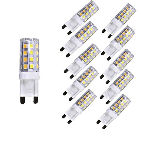 Pack de 10 G9 4W LED bombilla, 400 Lumens, 3000K, luz blanca cálida
