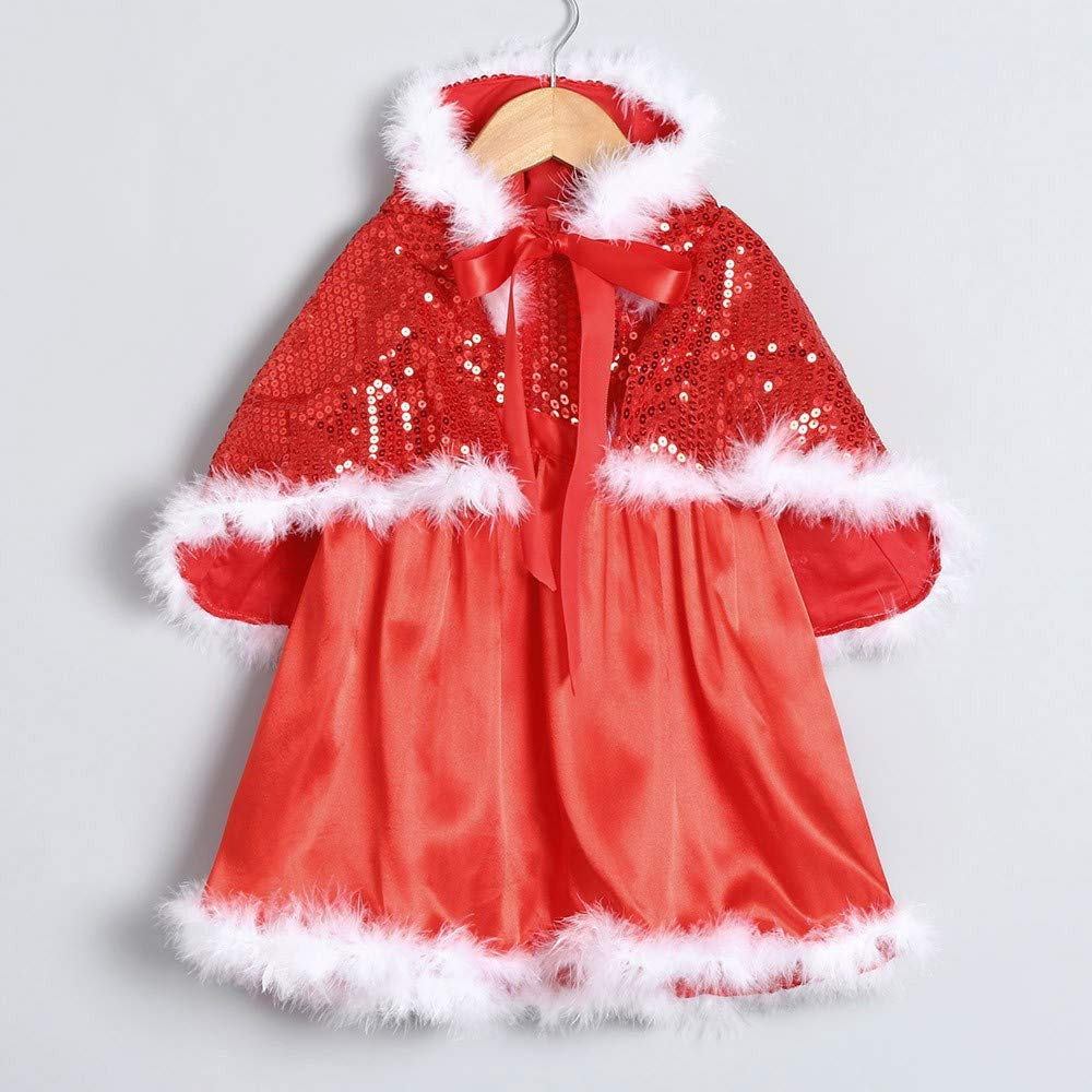 FORESTIME Christmas Baby Girls Hoodie Jacket Coat Cloak Winter Warm Outwear Xmas Festival Clothes