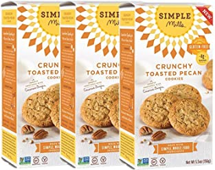 Simple Mills Crunchy Cookies, Toasted Pecan, Naturally Gluten Free, 5.5 oz, 3 count